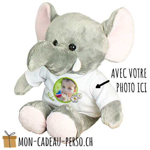 Peluche - Impression par sublimation - Eléphant 210mm