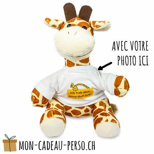 Peluche - Impression par sublimation - Girafe 220mm