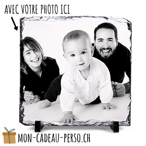 Ardoise photo personnalisée - Sublimation - 30x30 - Supports inclus