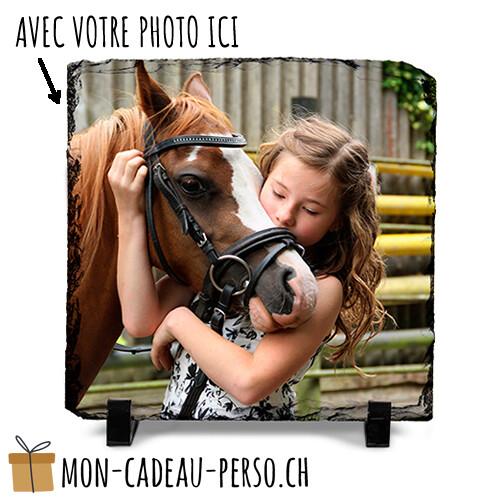 Ardoise photo personnalisée - Sublimation - 20x20 - Supports inclus