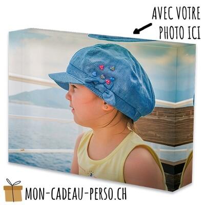 Bloc photo acrylique - Sublimation - 102x76x20mm