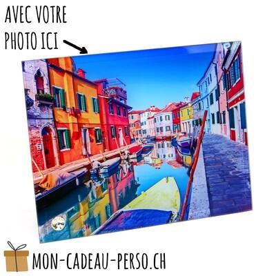 Cadre photo en verre personnalisé - Sublimation - 180x230mm
