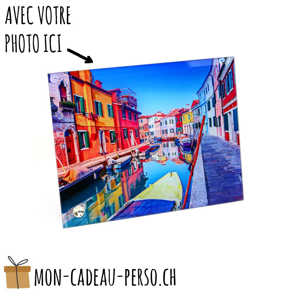 Cadre photo en verre personnalisé - Sublimation - 110x160mm