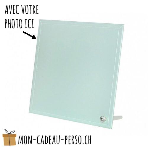 Cadre photo en verre personnalisé - Sublimation - 200x200mm
