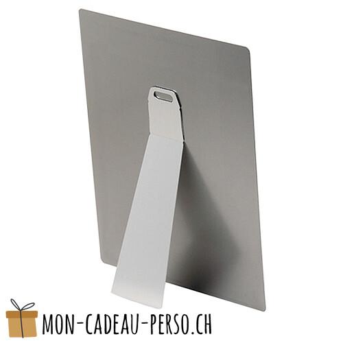 Fixation chevalet pour plaque en aluminium - Grand modèle