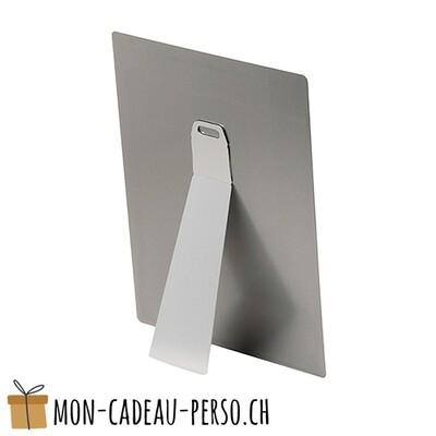Fixation chevalet pour plaque en aluminium - Petit modèle