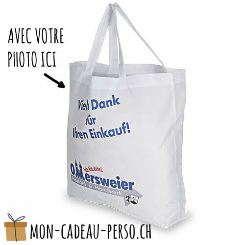 Cabas - 45x42 (LxH) - anses blanches - Sublimation - impression
