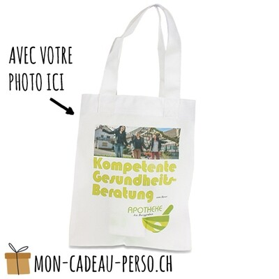Cabas - 20x25 (LxH) - anses blanches - Sublimation - impression