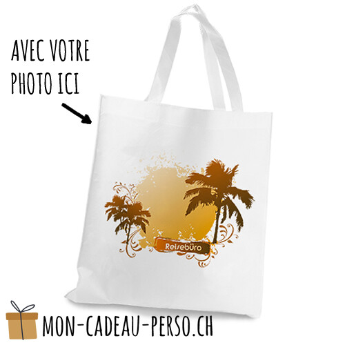 Cabas - 36x39 (LxH) - anses blanches - Sublimation - impression