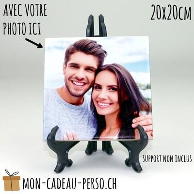 Plaque de céramique personnalisée - Sublimation - CARRÉE 20x20cm