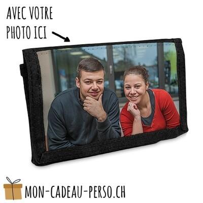 Portefeuille TEEN personnalisée - Fermeture Velcro - 130x90 - NOIR - Sublimation