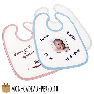 Bavette pour bébé - Polyester - Impression par sublimation