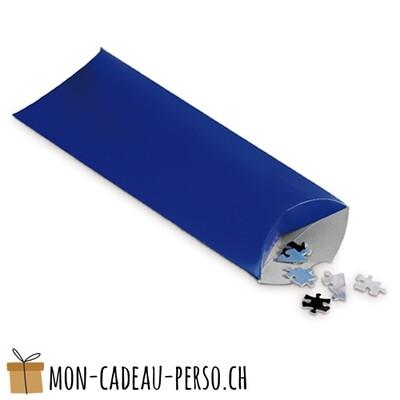 Boîte cadeau en carton - Puzzle - 250 x 120 x 40mm - Bleu