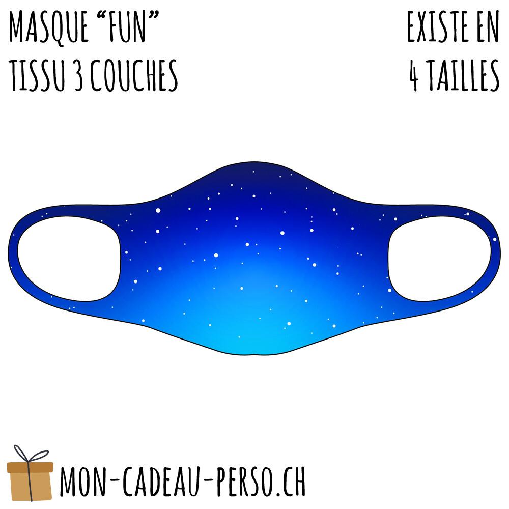 Masque de protection PRÉ-imprimé - Taille à choix - Motif Ciel étoilé
