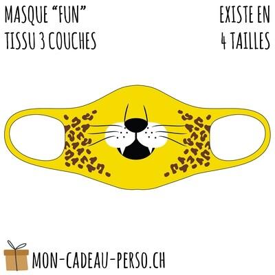 Masque de protection PRÉ-imprimé - Taille à choix - Motif Léopard