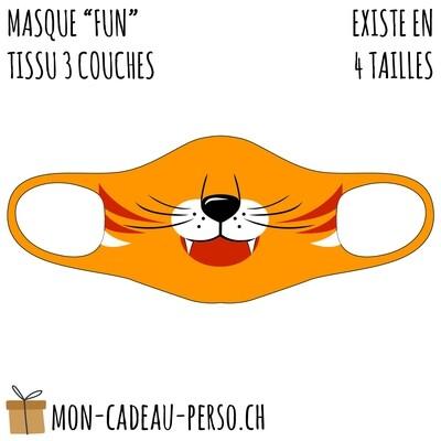 Masque de protection PRÉ-imprimé - Taille à choix - Motif Lion