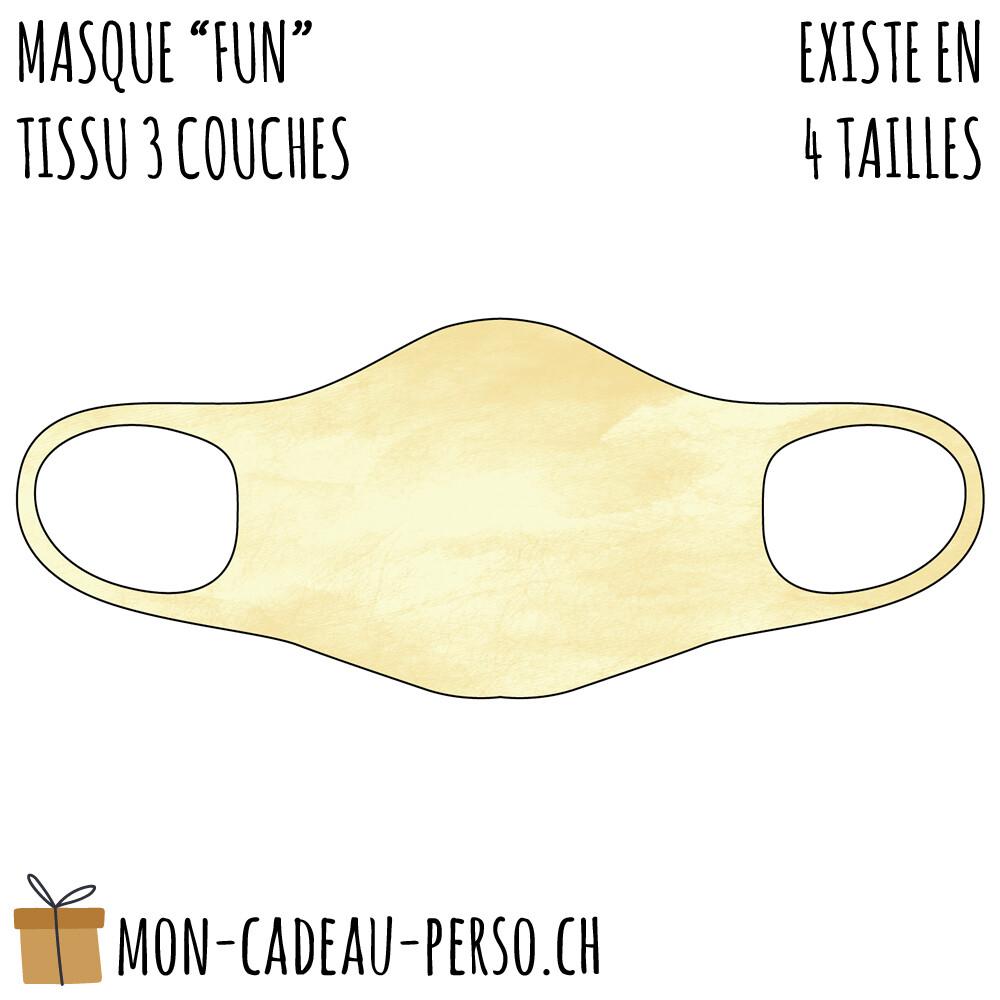 Masque de protection PRÉ-imprimé - Taille à choix - Motif Parchemin beige