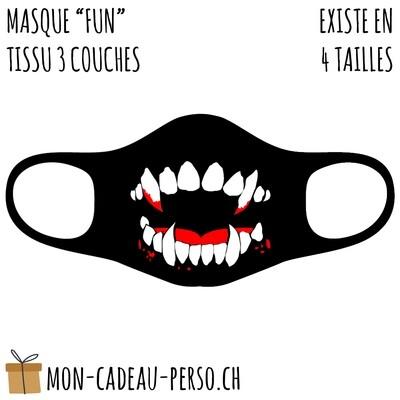 Masque de protection PRÉ-imprimé - Taille à choix - Motif Vampire