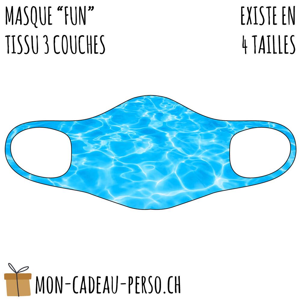 Masque de protection PRÉ-imprimé - Taille à choix - Motif Piscine