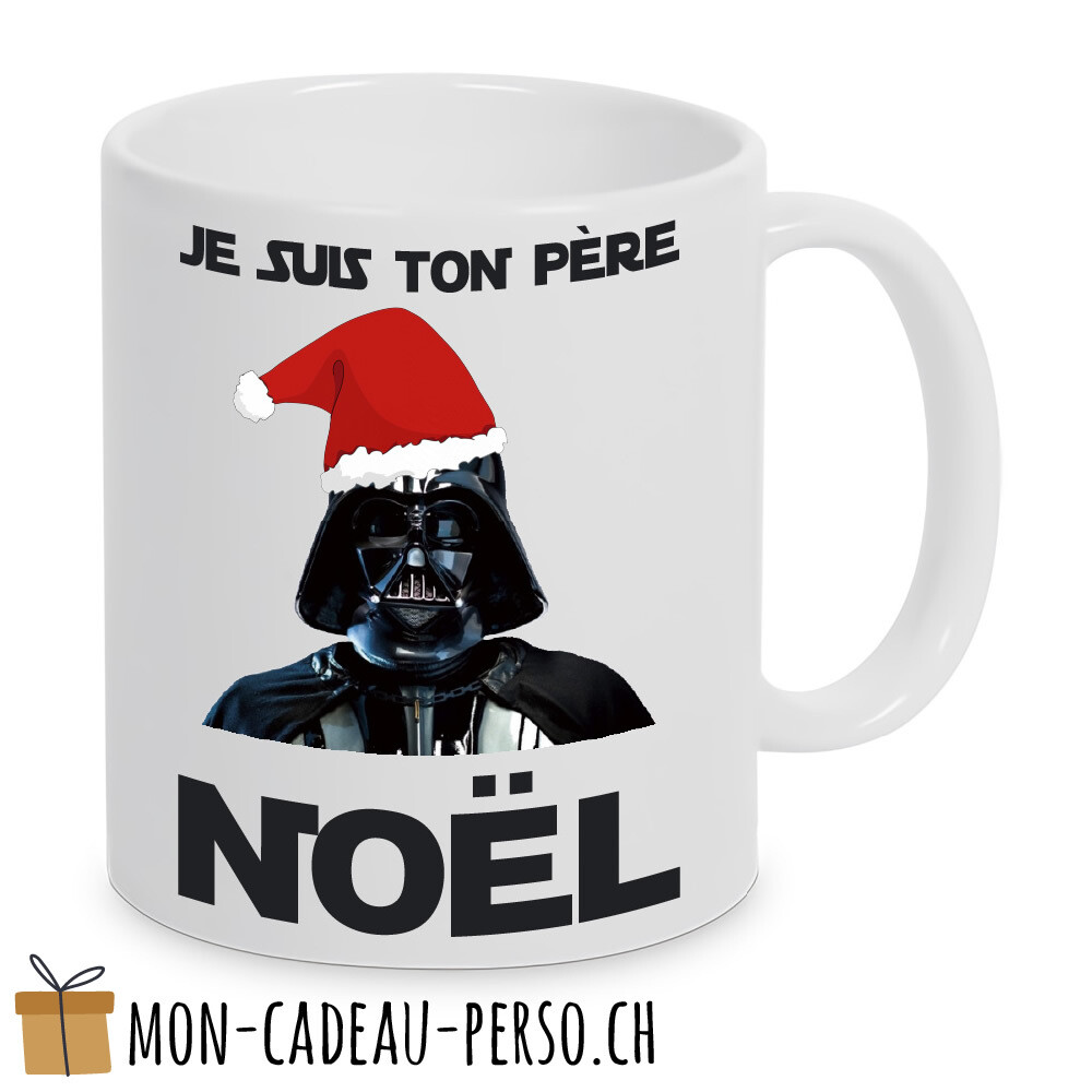 "MUG humoristique - Duraglas Blanc Brillant - ""je suis ton père Noël"""