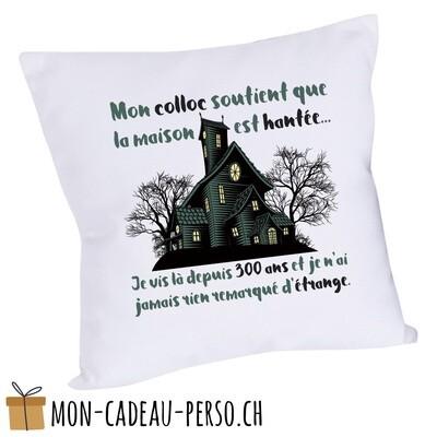 Coussin humoristique - 40x40 - Housse couleur blanche -