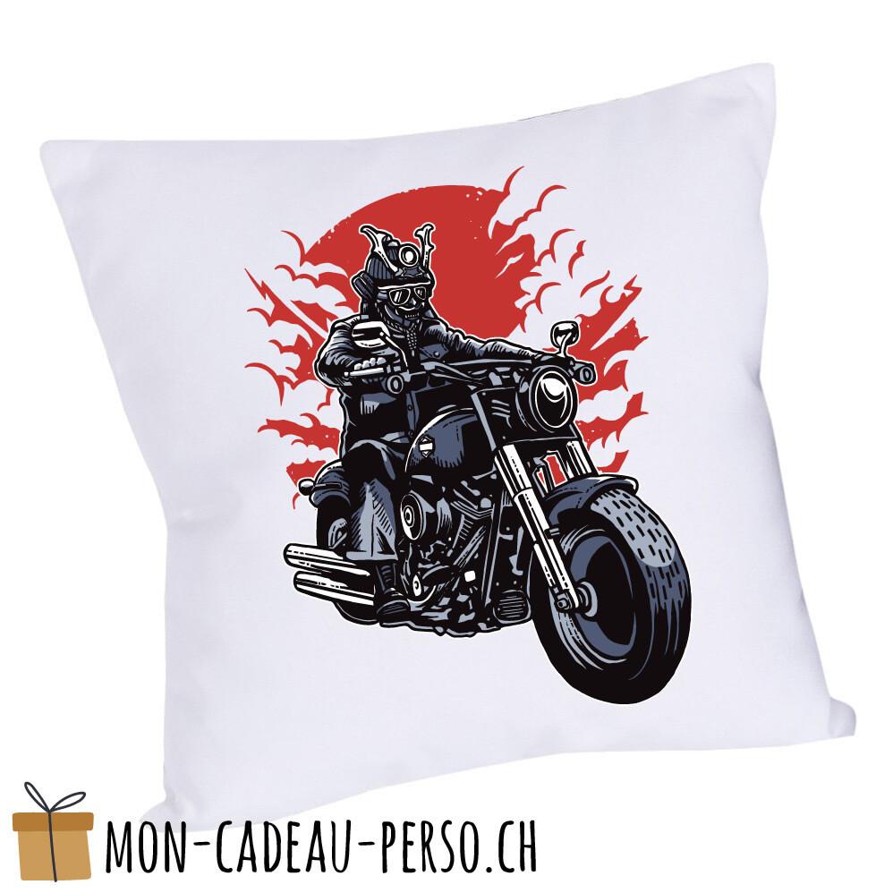 Coussin pré-imprimé - 40x40 - Housse couleur blanche - Samurai Ride
