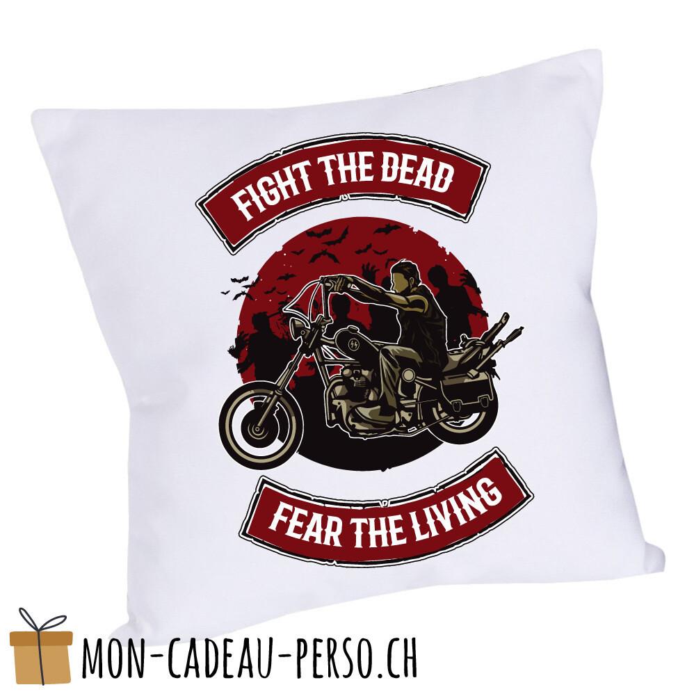 Coussin pré-imprimé - 40x40 - Housse couleur blanche - Fight The Dead