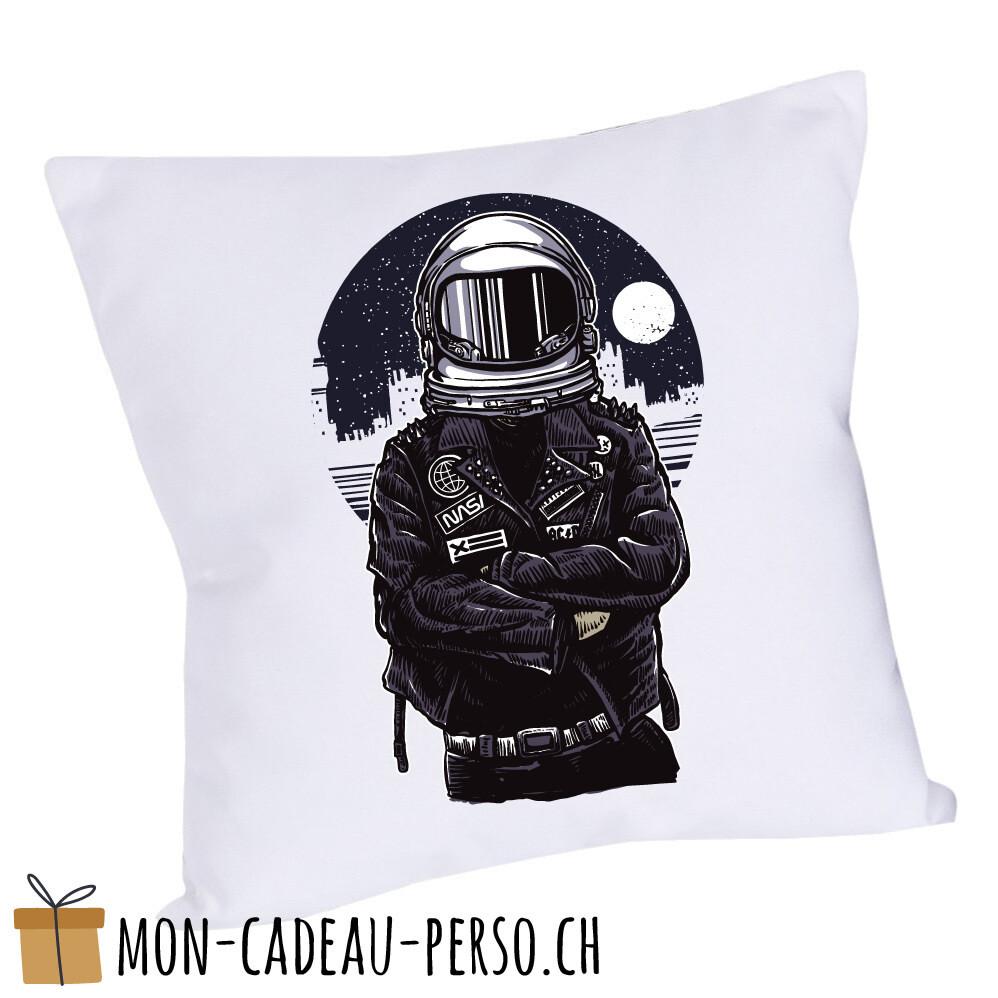 Coussin pré-imprimé - 40x40 - Housse couleur blanche - Astronaut Rebel