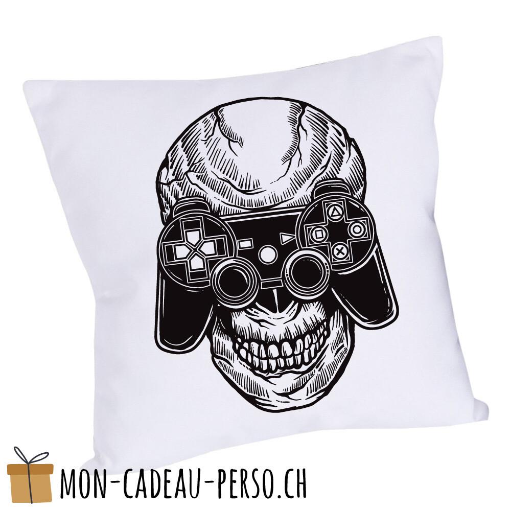 Coussin pré-imprimé - 40x40 - Housse couleur blanche - Skull Gamers