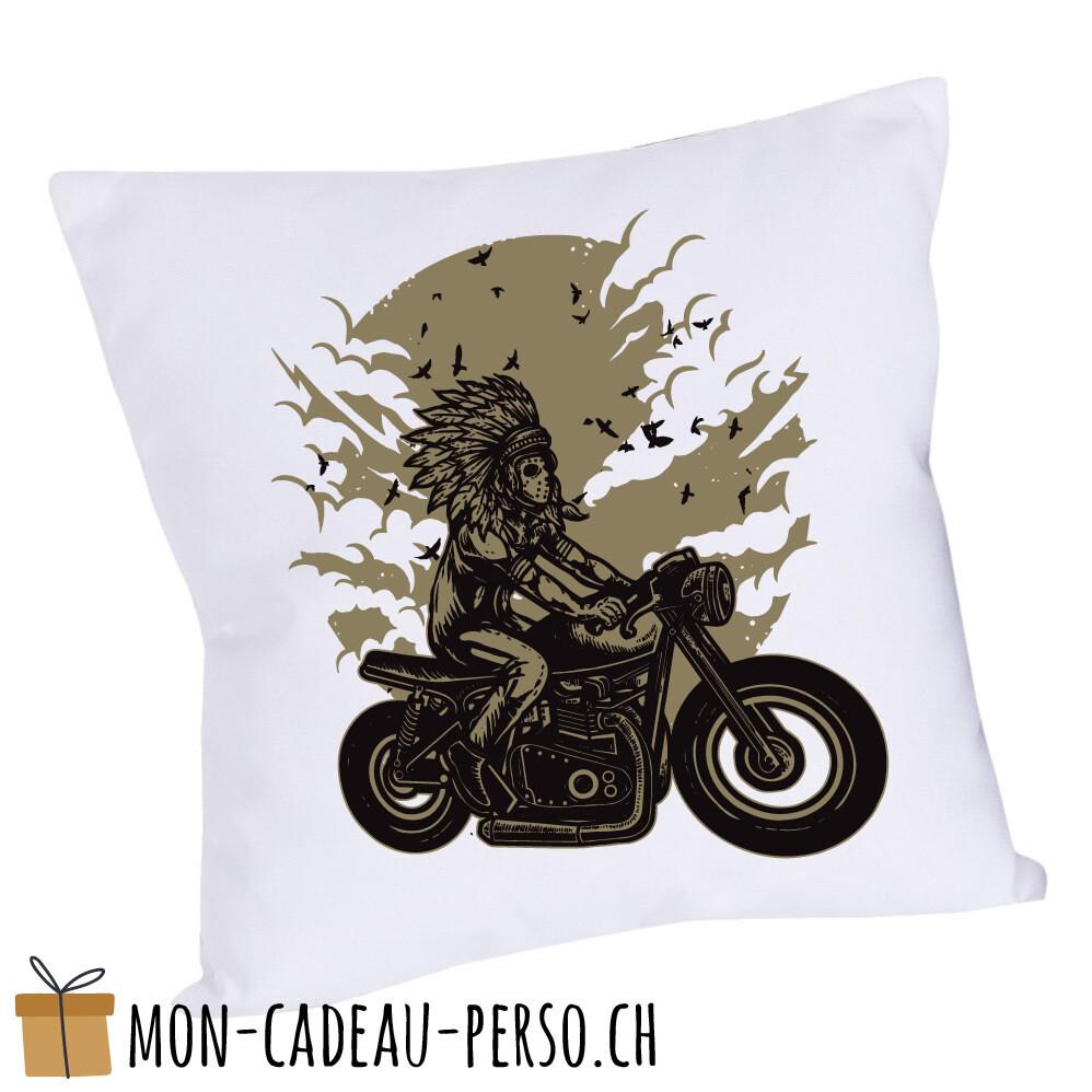 Coussin pré-imprimé - 40x40 - Housse couleur blanche - Indian Chief Rider