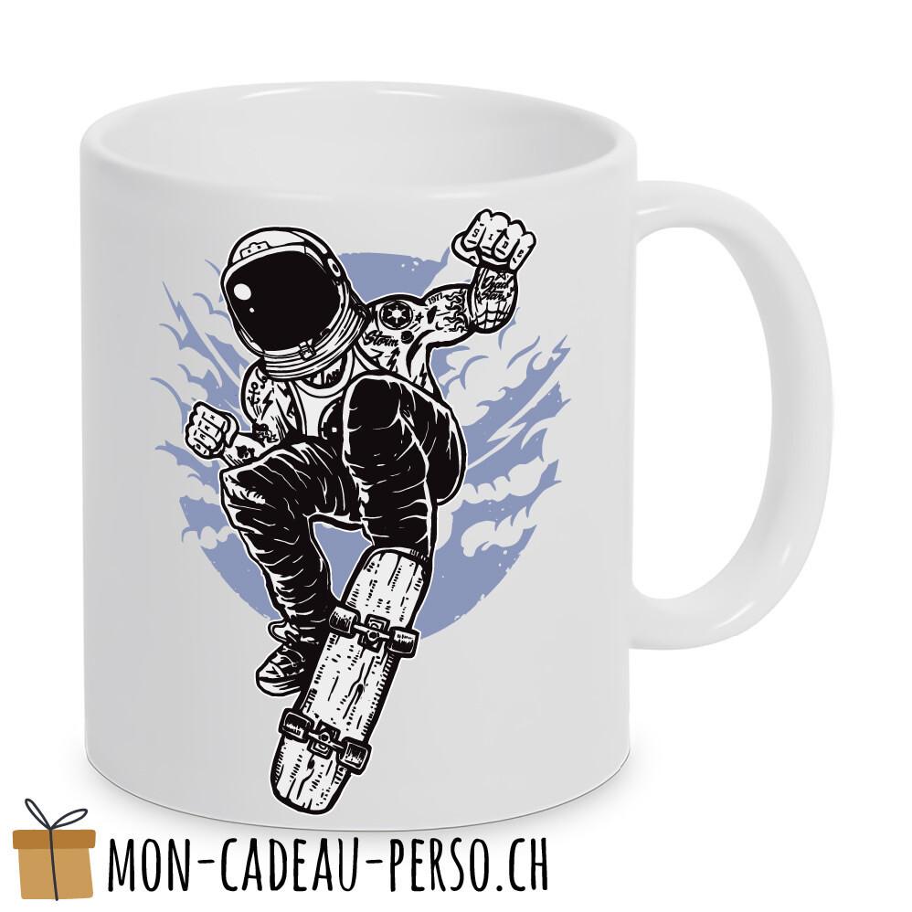 MUG pré-imprimé - Duraglas Blanc Brillant - Space Skater