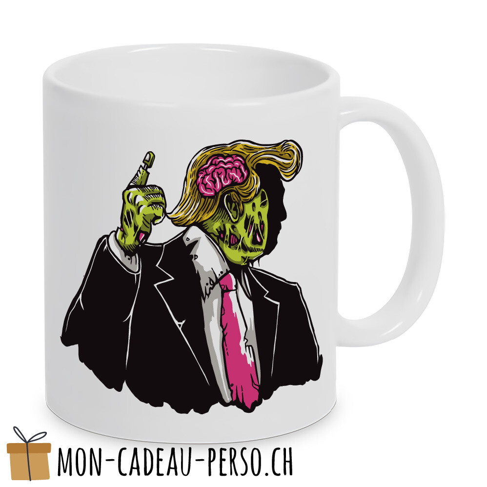 MUG pré-imprimé - Duraglas Blanc Brillant - Make Zombie Great Again