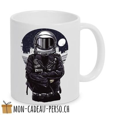 MUG pré-imprimé - Duraglas Blanc Brillant - Astronaut Rebel