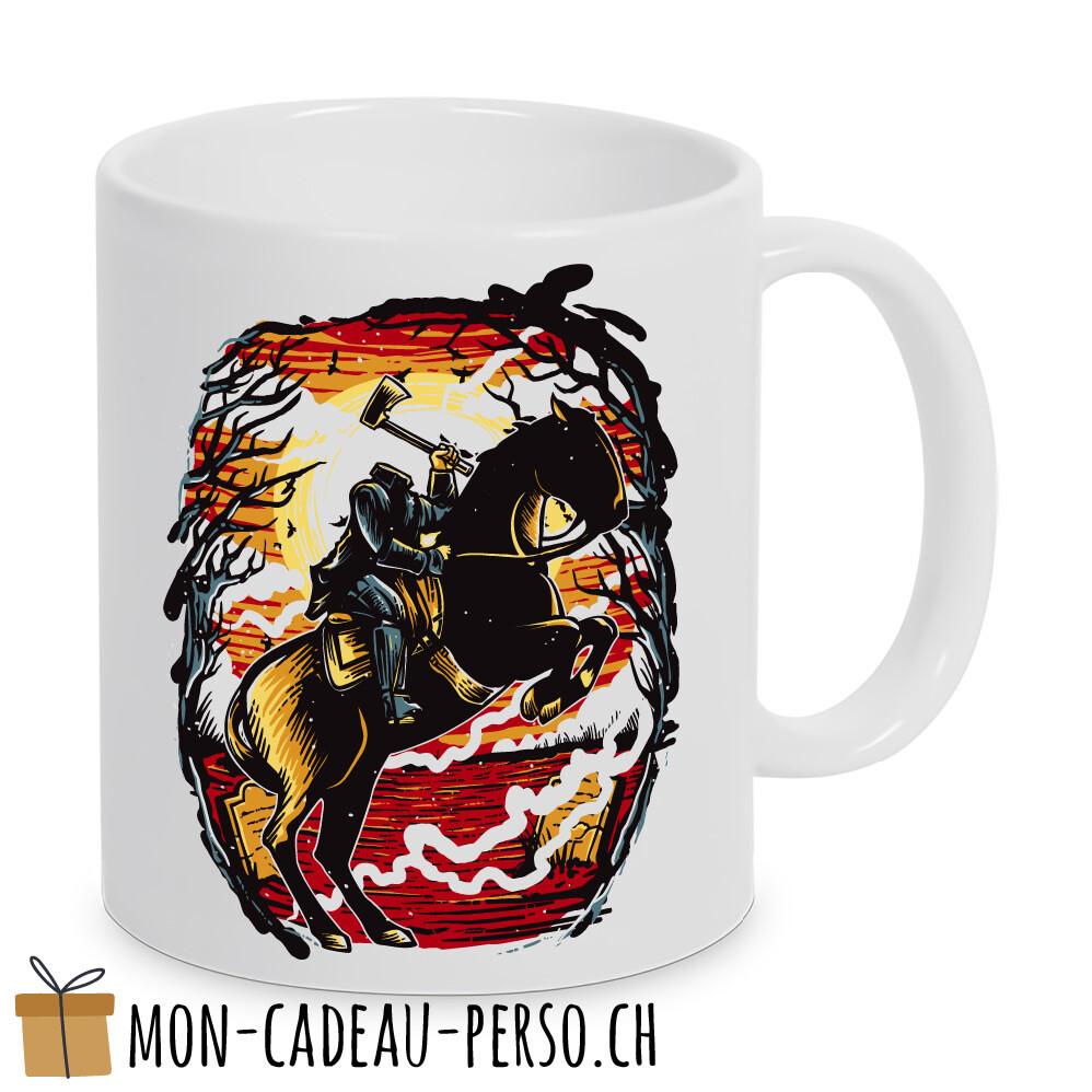 MUG pré-imprimé - Duraglas Blanc Brillant - Headless Horseman