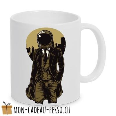 MUG pré-imprimé - Duraglas Blanc Brillant - Classic Astronaut