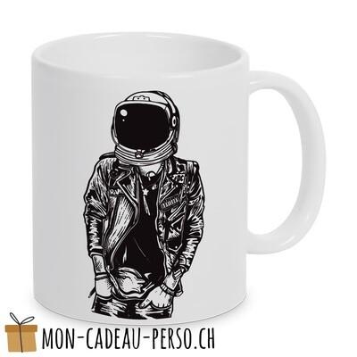 MUG pré-imprimé - Duraglas Blanc Brillant - Astronaut Punkster