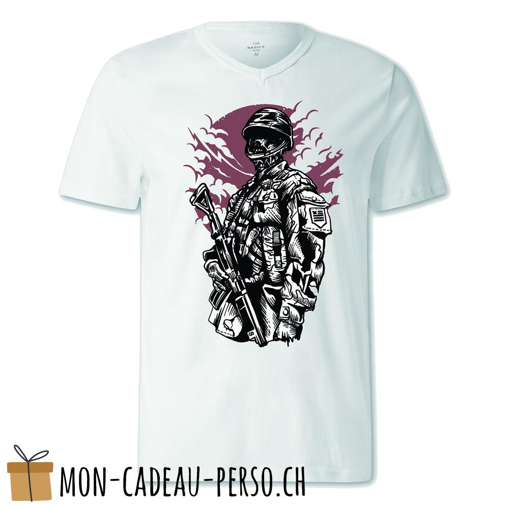 T-shirt pré-imprimé -  blanc - FEMME - Zombie Soldier