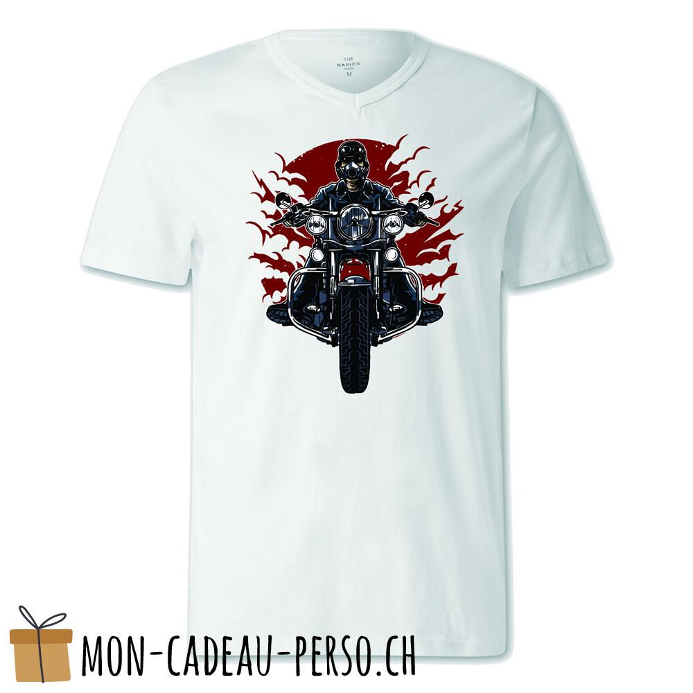 T-shirt pré-imprimé -  blanc - FEMME - Wild Biker