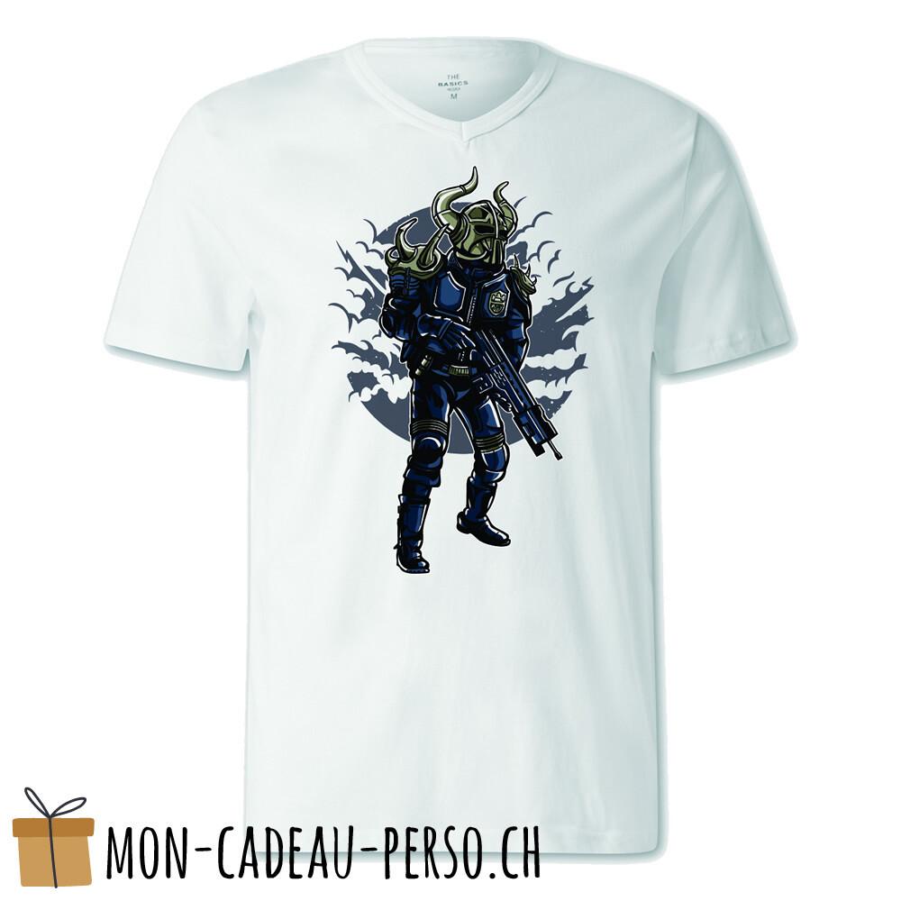 T-shirt pré-imprimé -  blanc - FEMME - Viking Soldier