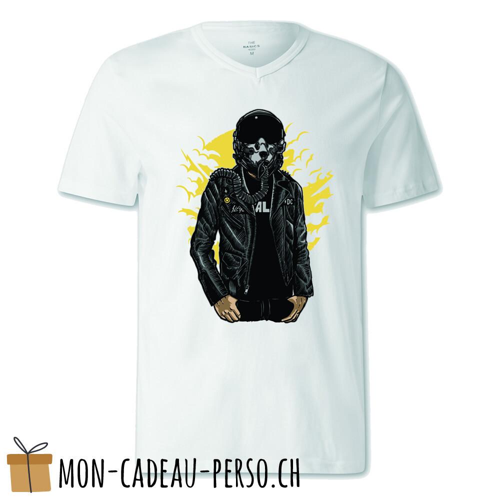 T-shirt pré-imprimé -  blanc - FEMME - Sky Fighter