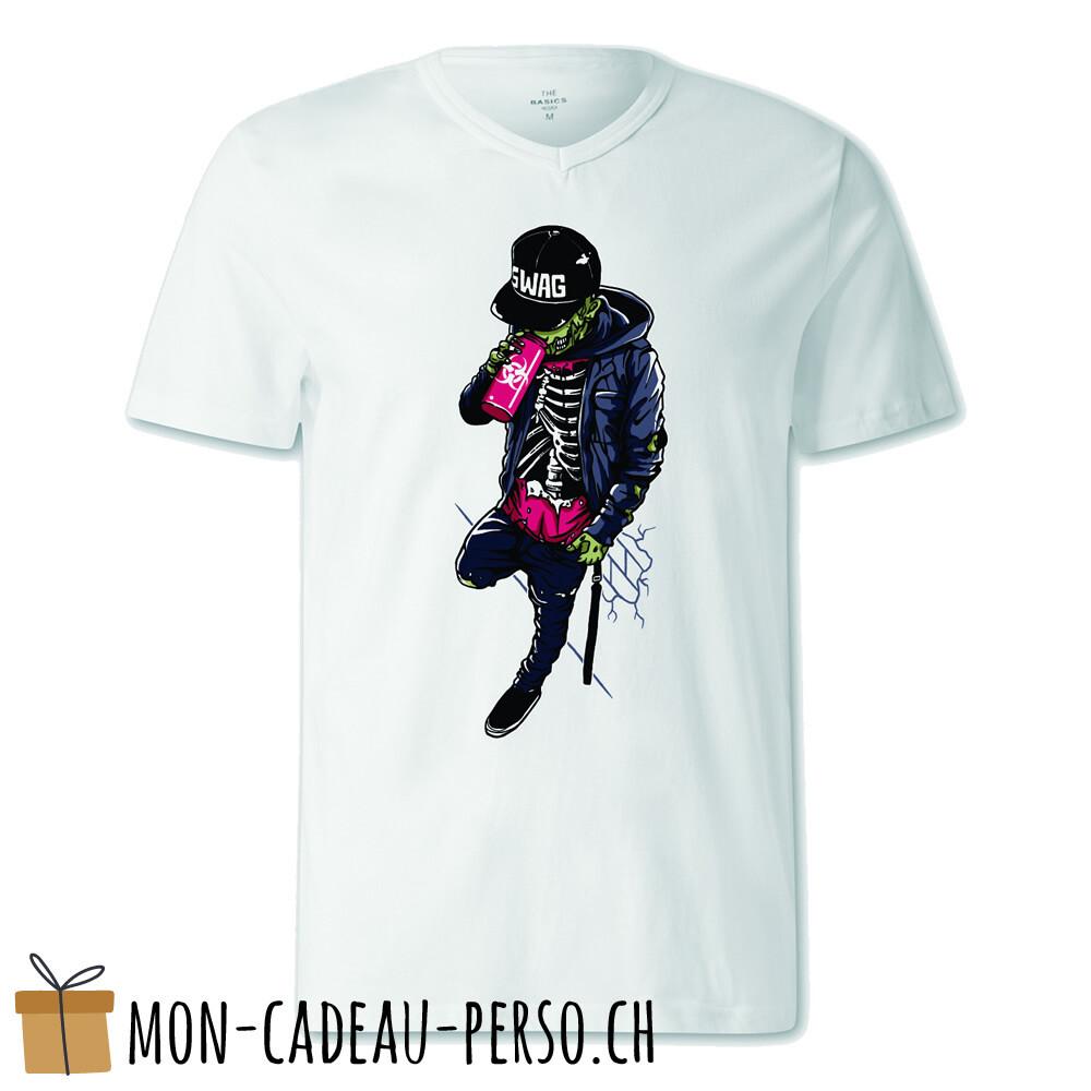 T-shirt pré-imprimé -  blanc - FEMME - Zombie Swag