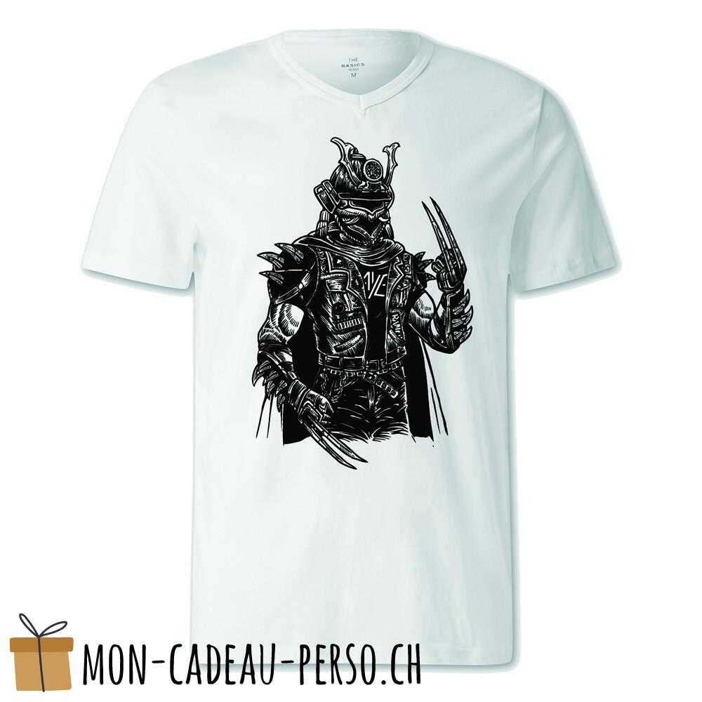 T-shirt pré-imprimé -  blanc - FEMME - Samurai Punk