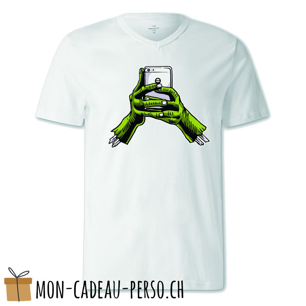 T-shirt pré-imprimé -  blanc - FEMME - Zombie Phone