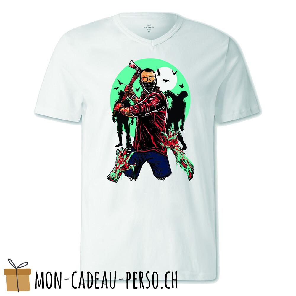 T-shirt pré-imprimé -  blanc - FEMME - Zombie Killer