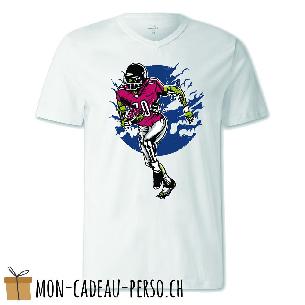 T-shirt pré-imprimé -  blanc - FEMME - Zombie Football US
