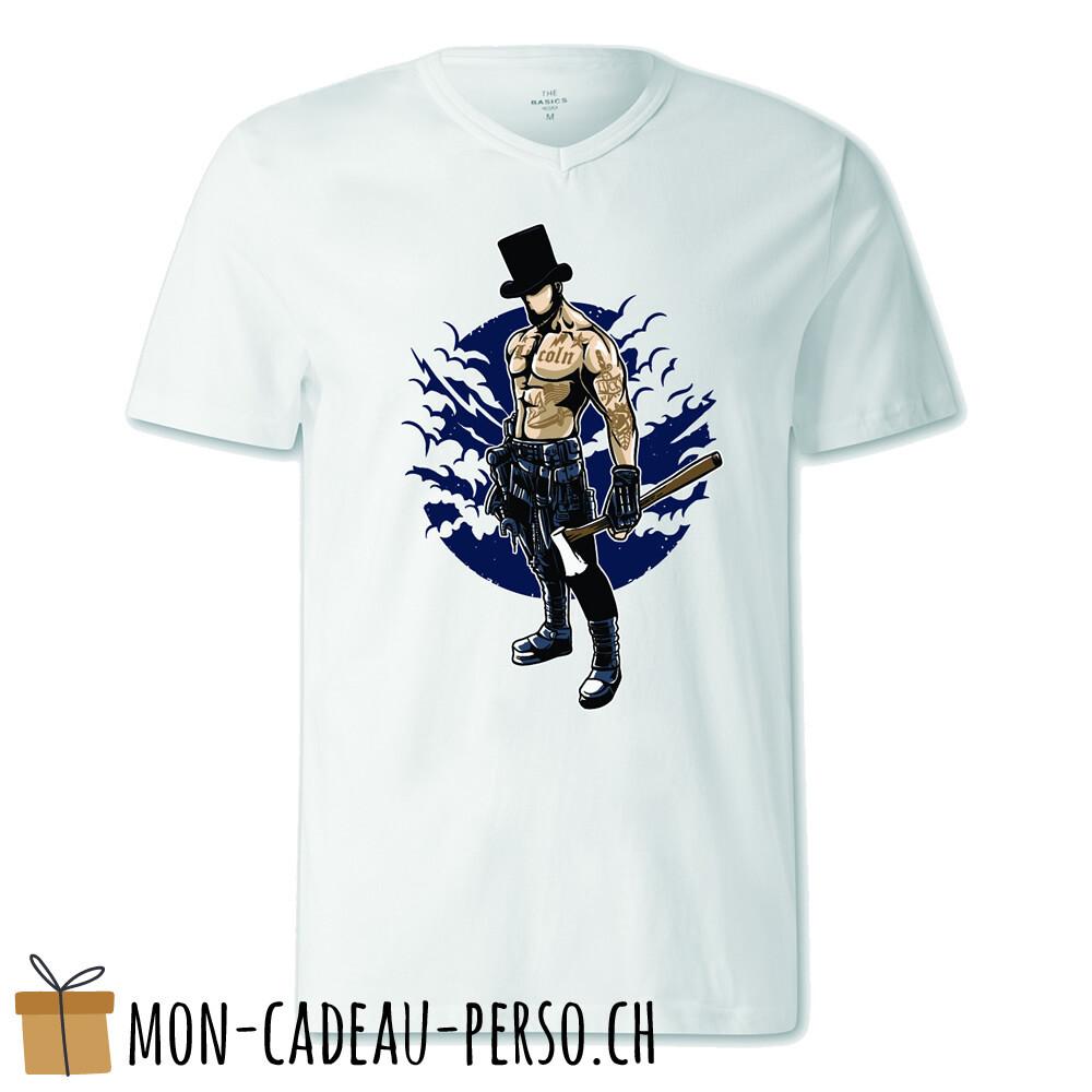 T-shirt pré-imprimé -  blanc - FEMME - Lincoln