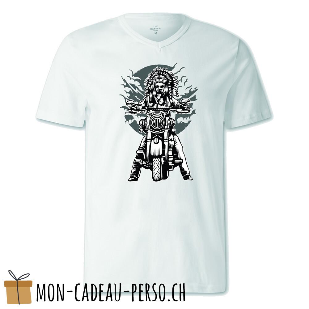 T-shirt pré-imprimé -  blanc - FEMME - Indian Chief Motorcycle