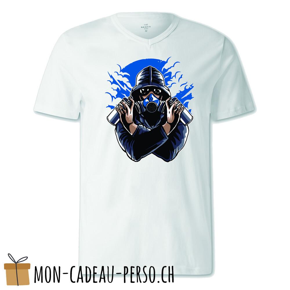 T-shirt pré-imprimé -  blanc - FEMME - Graffiti Gasmask