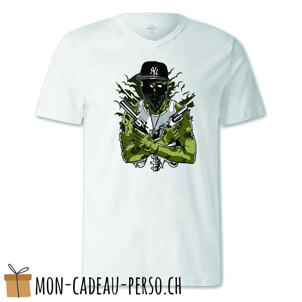 T-shirt pré-imprimé -  blanc - FEMME - Gangsta Zombie