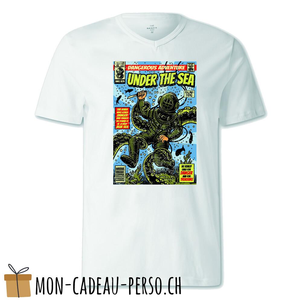 T-shirt pré-imprimé -  blanc - FEMME - Under The Sea